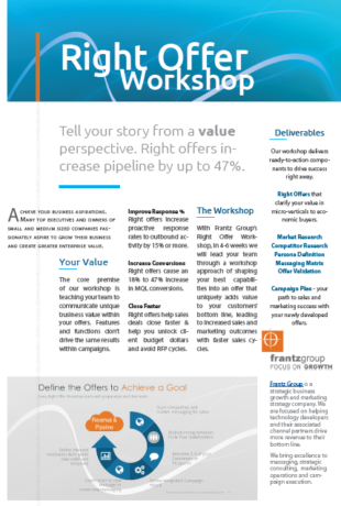 Right Offer Workshop Overview - Improve marketing results with value centric campaigns and messaging
